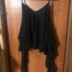 Black strap blouse